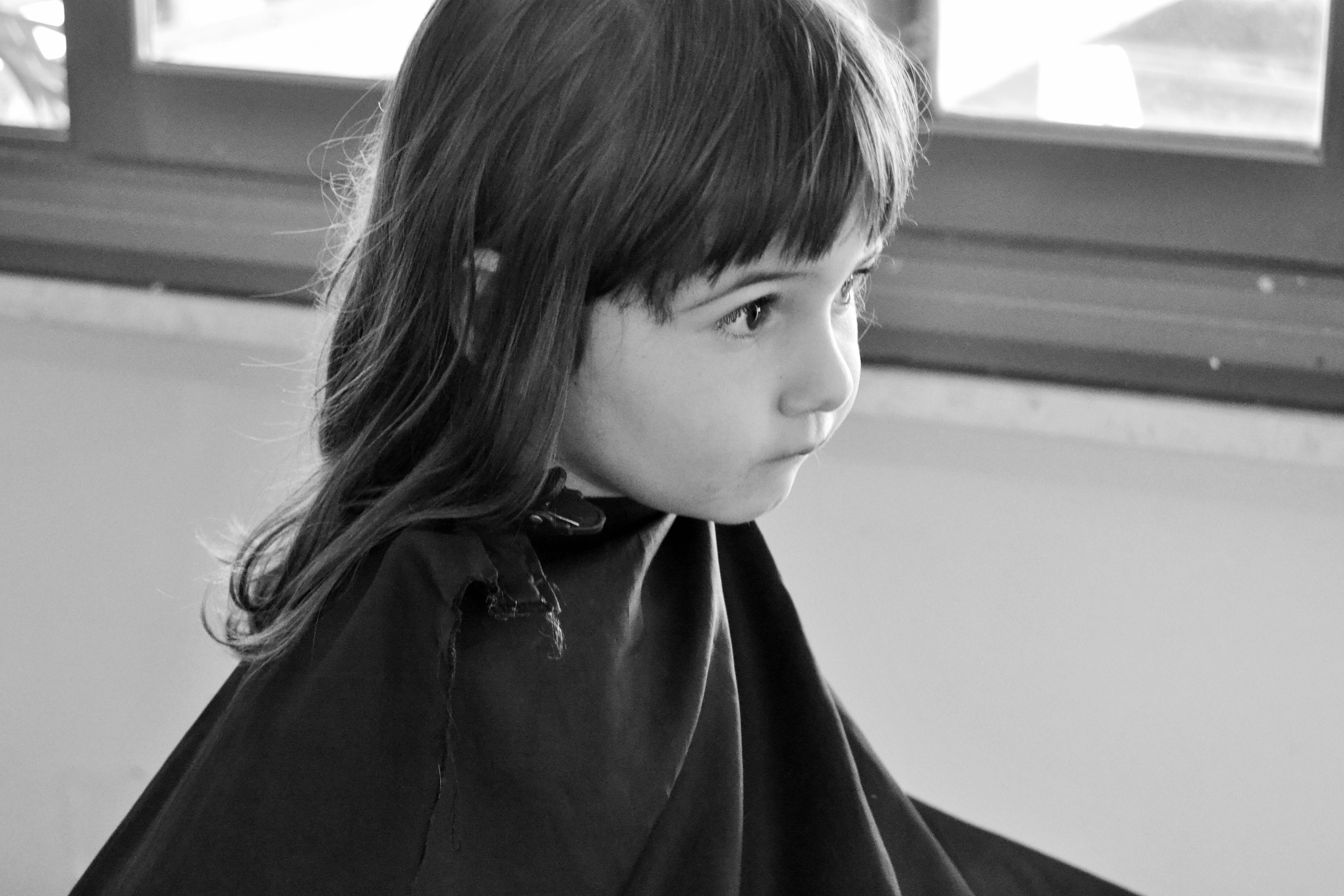 Primo taglio capelli bimba